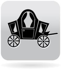 Princess carriage icon