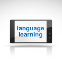 language learning words on mobile phone