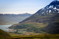Iceland, east fjords, Isafjordur