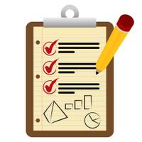 Financial Checklist Clipboard