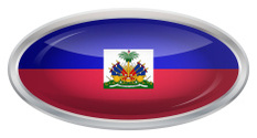 Glossy Button - Flag of Haiti