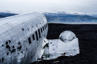 Plane wreck in wilderness