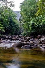 Titi Hayun Waterfall located at Kedah, Malaysia.