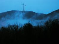 Cross in the Rainy Mist