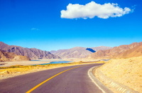 Tibetan plateau scene