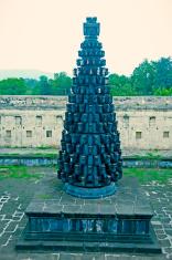 Deepstambh (light pillar) of Someshwar Temple