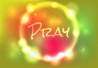 Vector Pray Abstract Glow Illustration
