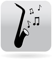 Saxophone music icon