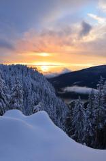 Sunset on Grouse Mountain