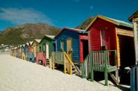 colourful houses on beach