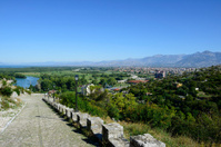 Rozafa castle and Shkodra, Albania