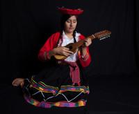 Peruvian women in national clothing