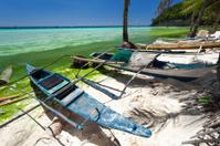 Asian fishing boat on tropical beach, Boracay