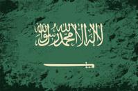 Saudi Arabian flag. Grunge background. Vector illustration