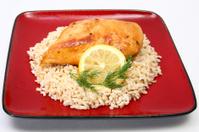 Lemonade Chicken on Brown Rice