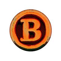 grunge font - letter B