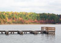 Dock on Lake in Autumn