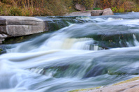 Waterfall on river