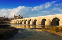 Roman bridge over Guadalquivir river in Cordoba