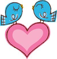 Love Birds with Heart