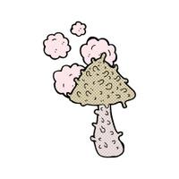 comic cartoon weird mushroom