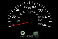 Hybrid car's speedometer