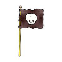 comic cartoon waving pirate flag