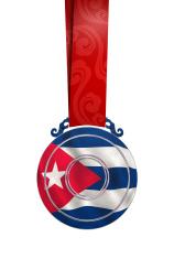 Medal with Cuba's flag