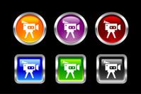 Metallic Glossy Icon   Camcorder