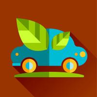 go eco green flat icon