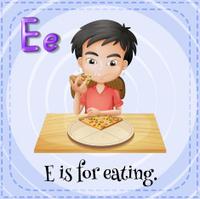 Letter E