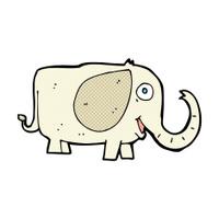 comic cartoon baby elephant
