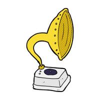 comic cartoon phonograph