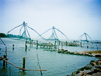 chinese fishing net cochin (kochi), kerala, india