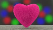 Pink fluffy heart