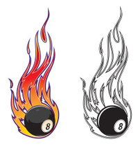 flaming eight  ball