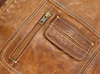 Macro of leather jacket