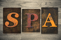 Spa Concept Wooden Letterpress Type
