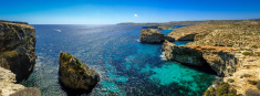 Panoramic Image on Comino Island, Malta