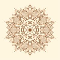 Mandala. Beautiful hand drawn flower.