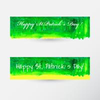 St. Patrick`s Day Handmade Watercolot Banner set.