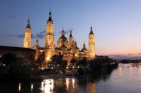 Virgen del Pilar and Ebro river, Spain