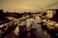 Nightlife floating market Amphawa