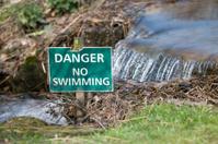 Danger no swimming