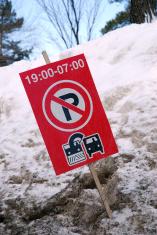 Winter driving - no parking