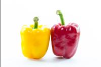 Red and yellow chili capsicum