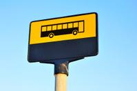 Sign of bus stop in Copenhagen.
