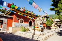 Wutaishan(Mount Wutai) scene. Courtyard of Luohou temple