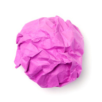 Pink paper ball