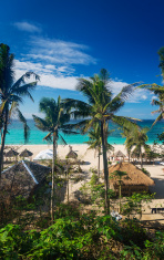 puka tropical paradise beach in boracay philippines